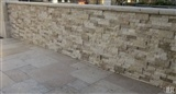 Tuscany Ivory Travertine_Roman Beige Ledger Panels