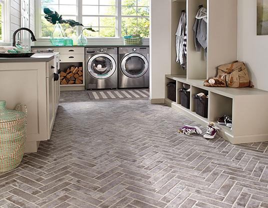 Brickstone-Taupe-2X10-Porcelain-Brickstone-Flooring-Scene