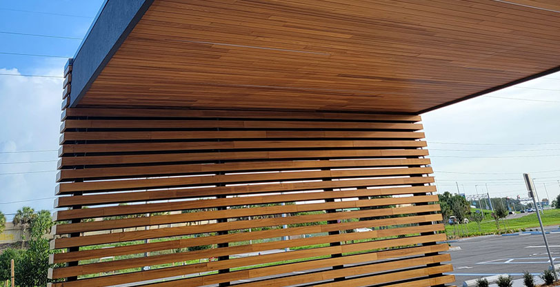 Orlando, FL, ID: MSIYOUS2LO – Natural Wood Screen and Ceiling Panels