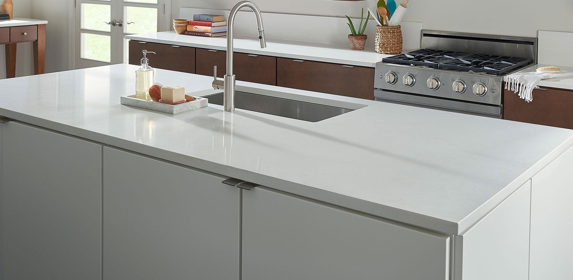 Kitchen Countertop Quartz Arctic White 4 Msi Surfaces