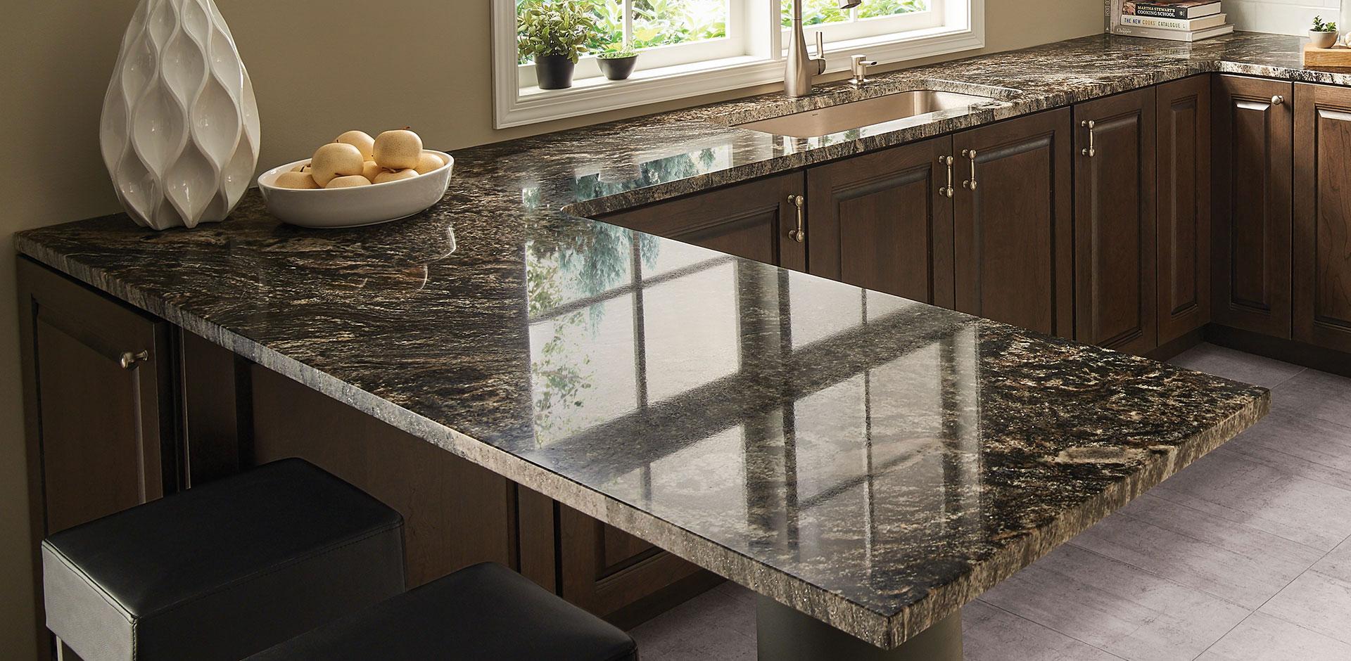 Kitchen Room Scene Black Forest Countertop Granite
