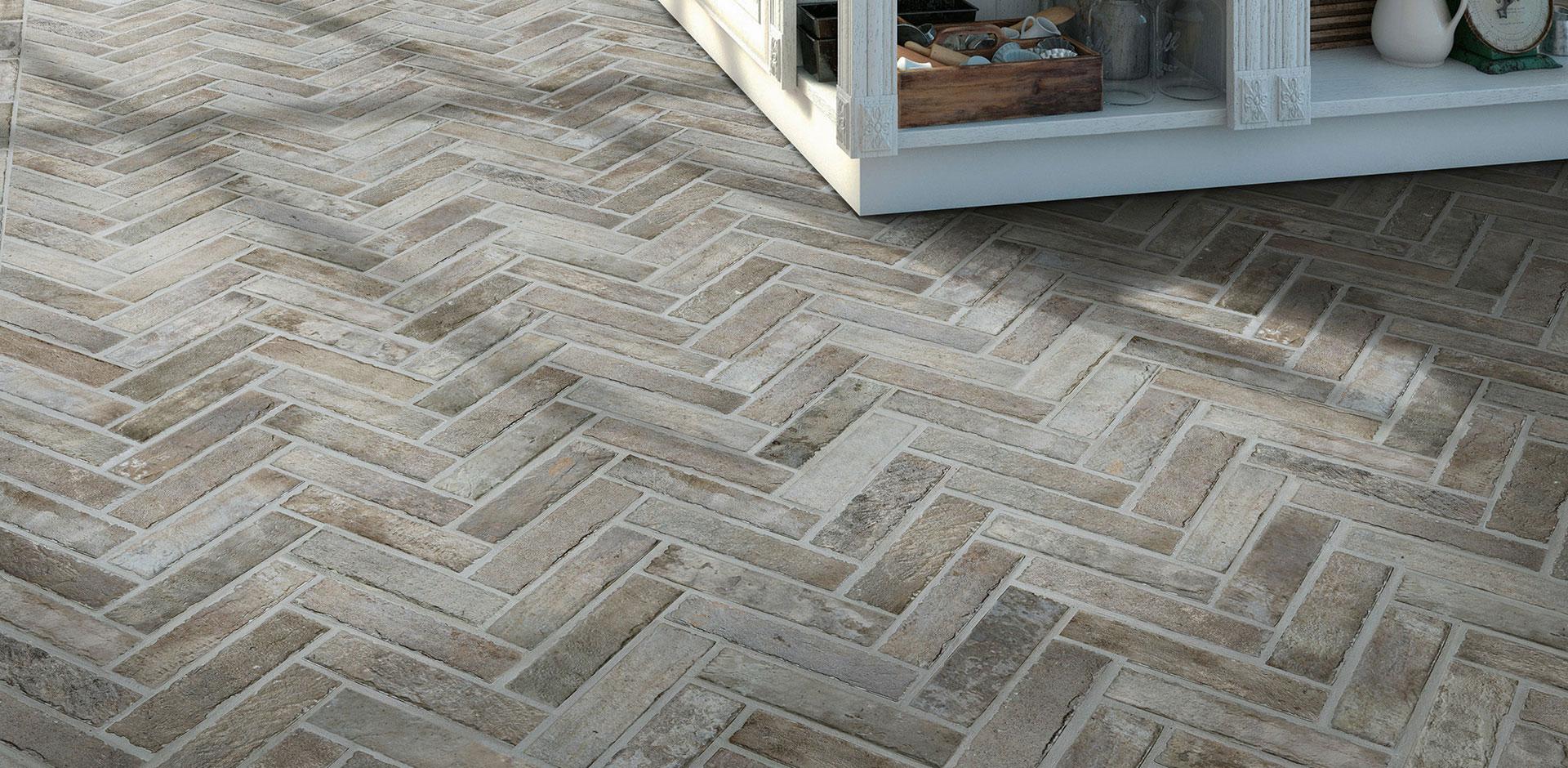 Kitchen Flooring Porcelain Brickstone Capella Taupe