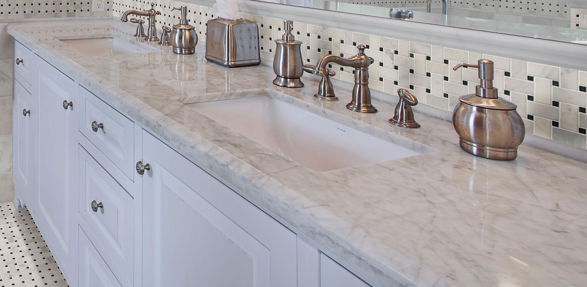 Bathroom Countertop Marble Carrara White Msi Surfaces