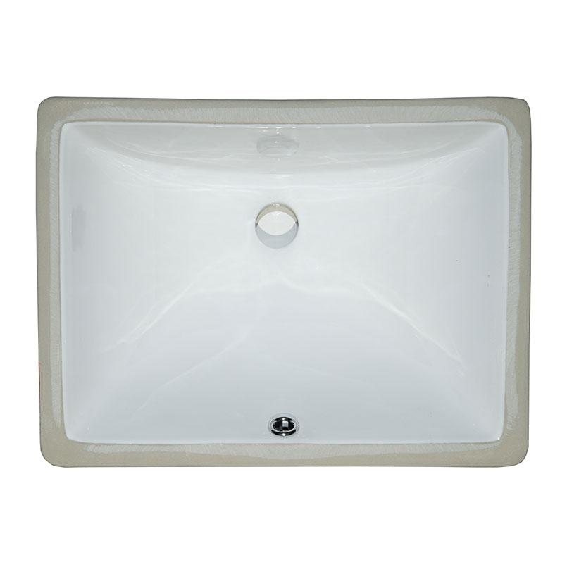 Kitchen Sinks   Vanity White Rectangle Porcelain 1813