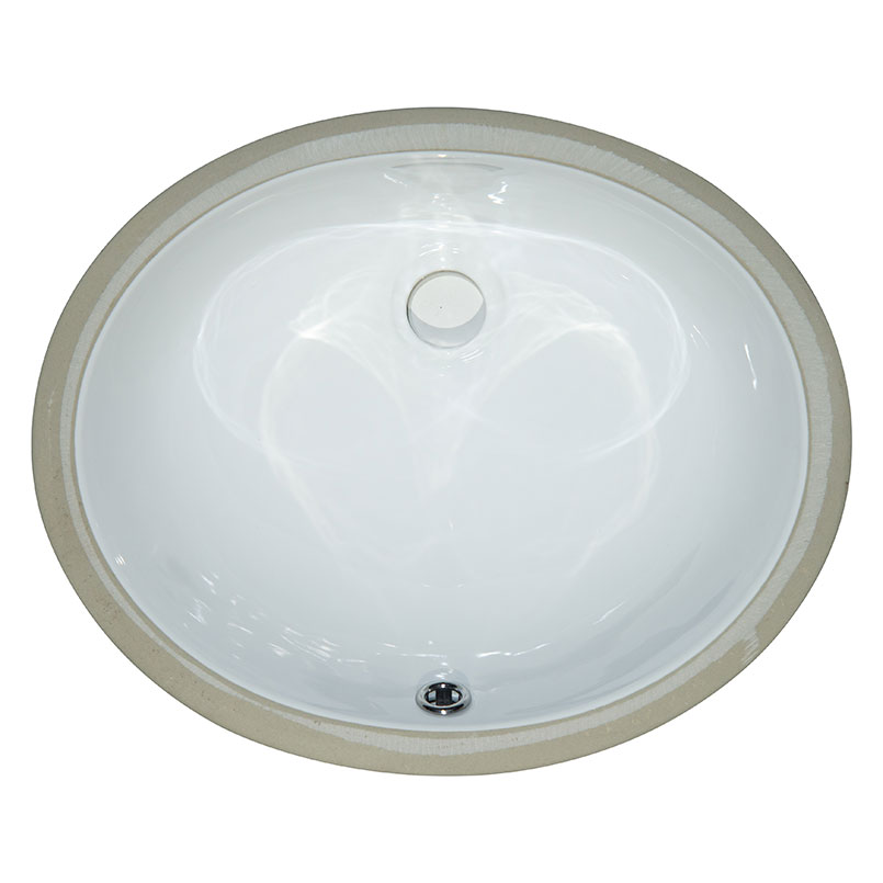 Vanity White Oval Porcelain Kitchen Sink 1512