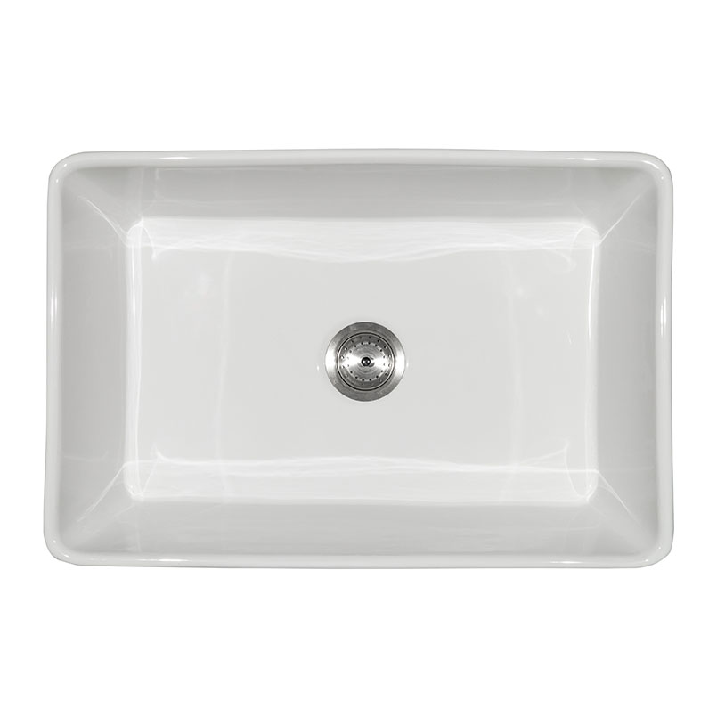 Fireclay Farmhouse White Single Bowl Kitchen Sinks