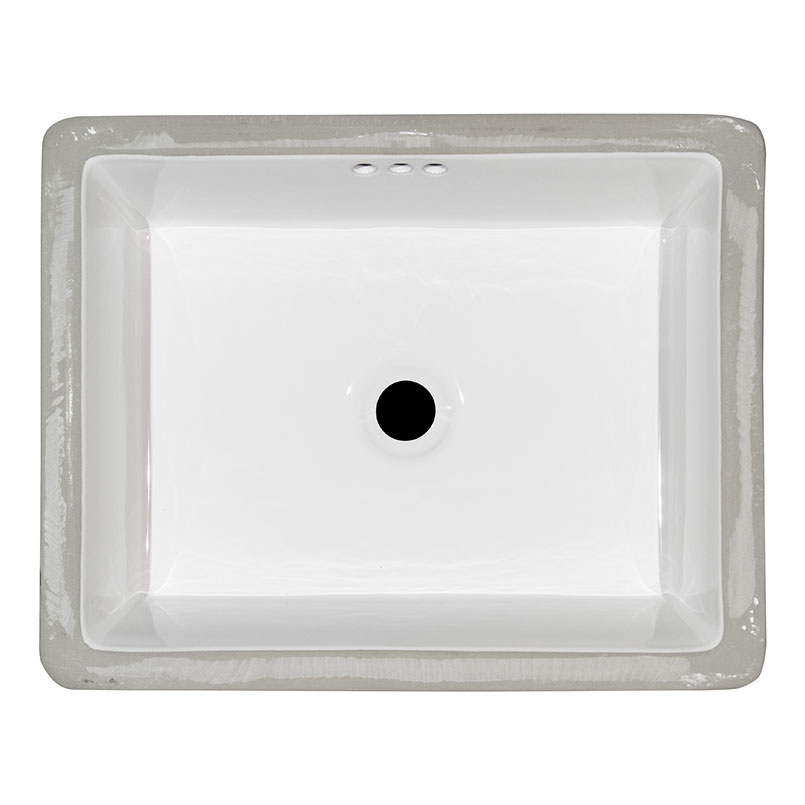 Vanity White Flat Porcelain Kitchen Sink