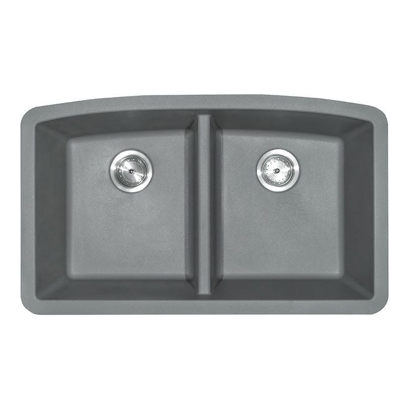 Grey Quartz Double Bowl 50/50-321 Kitchen Sinks Product Page