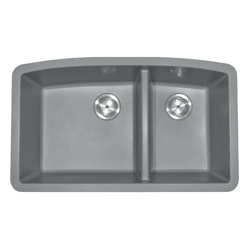 Grey Quartz Double Bowl 60/40-3 Kitchen Sinks Product Page