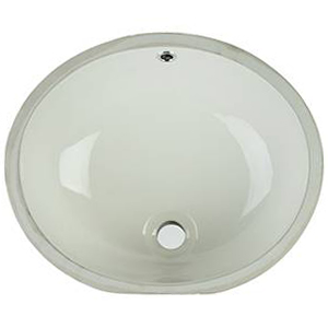 Vanity Bisque Oval Porcelain Kitchen Sinks