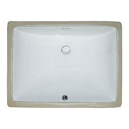 Vanity White Rectangle Porcelain Kitchen Sink