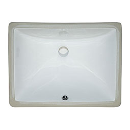 Ceramic Vanity White Rectangle Porcelain Kitchen Sink