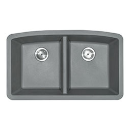 Grey Quartz Double Bowl 50/50-321 Kitchen Sinks