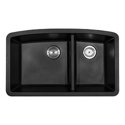 Black Quartz Double Bowl 60/40-321 Kitchen Sinks