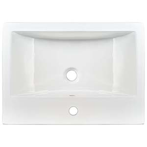 Overmount White Rectangle Porcelain 2417