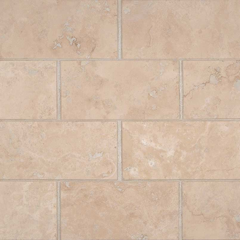 Durango Cream Travertine Honed Bevel 3x6 Tile
