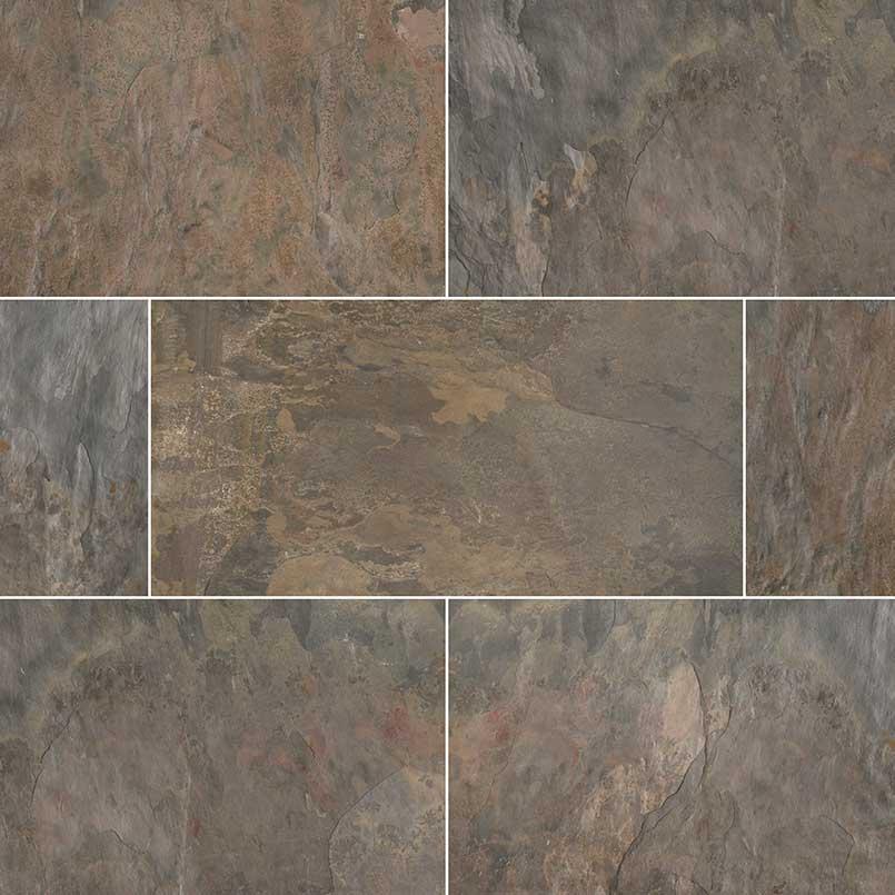 Rustic Gold Slate Tile Flooring