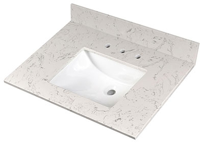 Carrara Sky Vanity Top Countertops