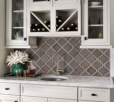 Mosaic Backsplash Installation