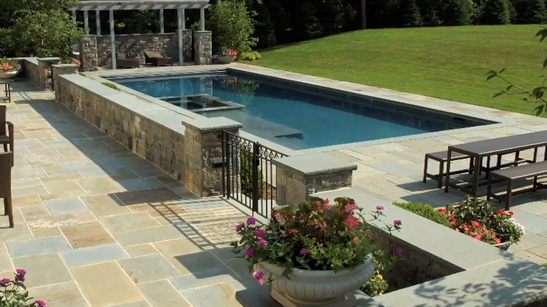 Water Feature and Patio